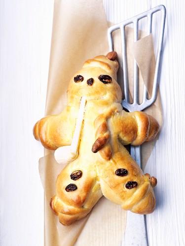 'Weckmann' (cookie) with raisins