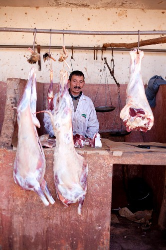 A butcher's shop in North Africa