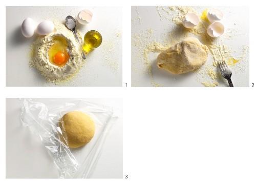 Making pasta dough with durum wheat semolina