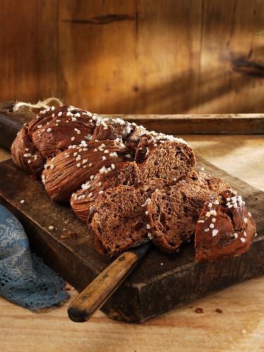 Schokoladen-Hefezopf