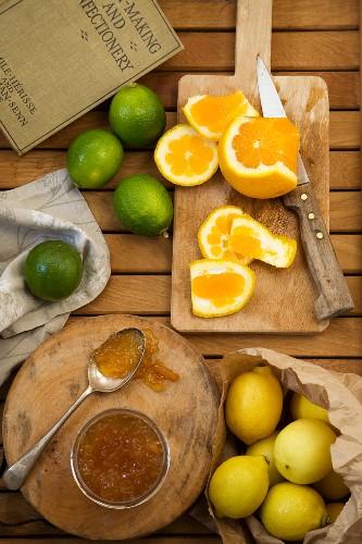 Citrus fruit marmalade
