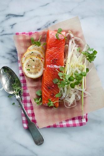 Salmon en papillotte