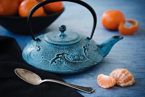 An Asian teapot