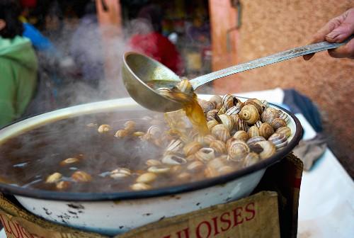 Snail Broth on Street, Marrakesh, Morocco