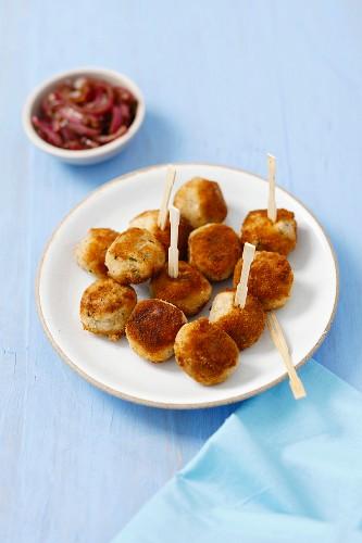 Potato croquettes with smoked mackerel