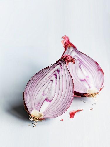Red onion, halved