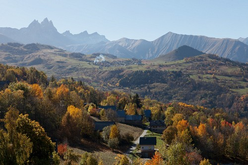 An autumnal mountain landscape in France
