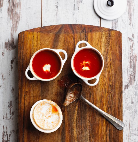 Italienische Tomatensuppe (Low Carb)