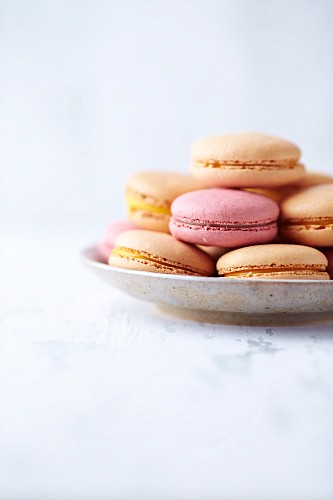 Macaroons on a small Plate
