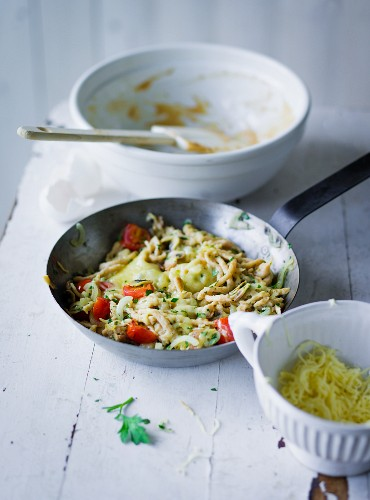 ADHD food: Wholemeal Spätzle (soft egg noodles from Swabia) with vegetables