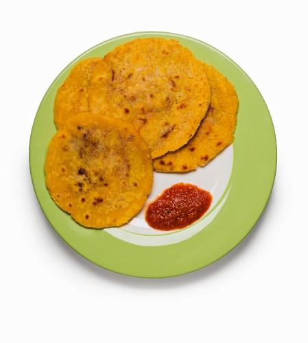 Pupusas (stuffed pastry parcels from El Salvador)