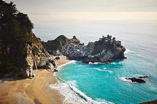 Big Sur, strip of coast in California (USA)