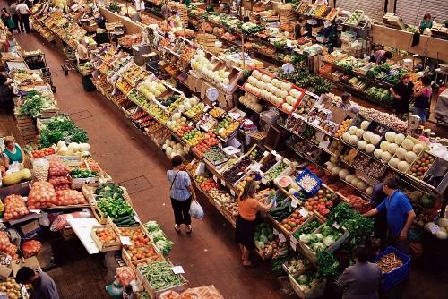 Indoor market, Mercado da Ribeira, Lisbon, Portugal, Europe
