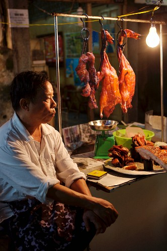 A cookshop in Hanoi, Vietnam, Indochina, South-East Asia