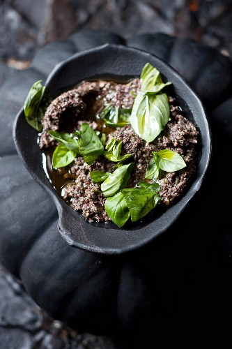 Tapenade with basil
