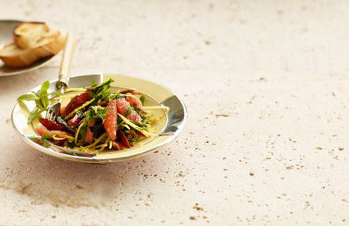 Date and olive salad with pickled lemons