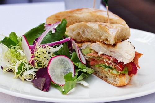 A chicken-salad sandwich