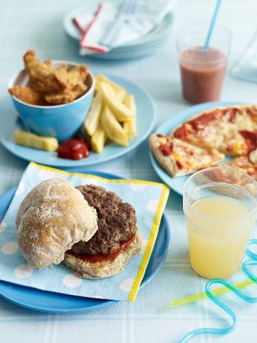 Fastfood für die Kinderparty