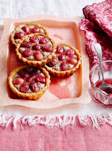 Grape frangipane tarts