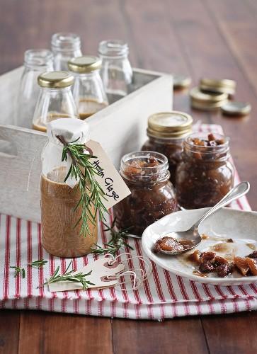 Homemade fig chutney for Christmas