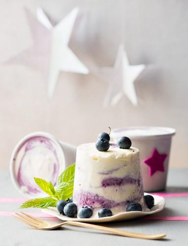 Blueberry ripple ice cream for Christmas