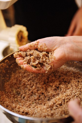 Ingredients for unleavened bread in a bakery (Lebanon)