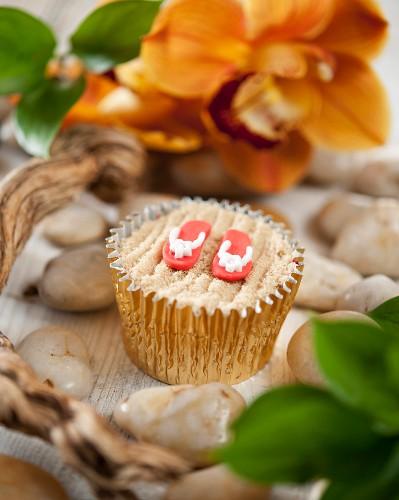 A beach cupcake