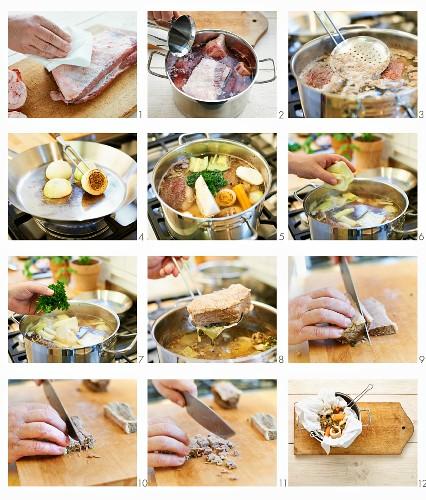 Rindfleischsuppe zubereiten