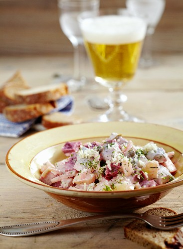 Herring and beetroot salad