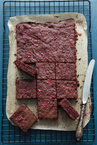 Schokolade-Rote Bete-Brownies