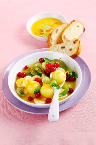Fruit salad with orange dressing
