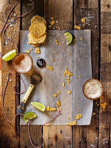 Nachos, limes and beer