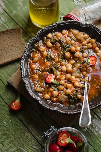 Zuppa di ceci (Kichererbsensuppe, Italien)