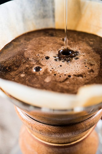 Filter coffee being brewed