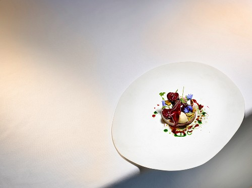 A dish by Christian Hümbs: Cherry desert from the old country