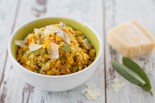 Quinoa risotto with pumpkin and Parmesan cheese