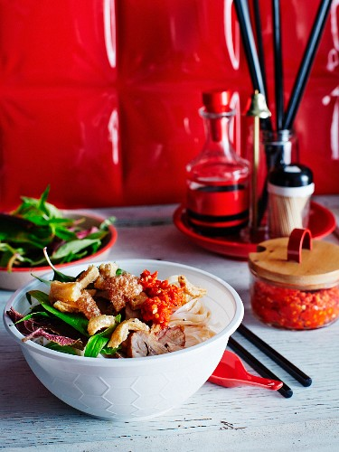 A Vietnamese dish with a chilli and garlic sauce