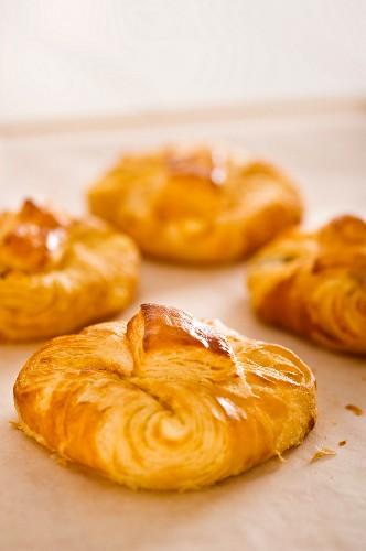 Quark pastries (puff pastries filled with quark, Austria)