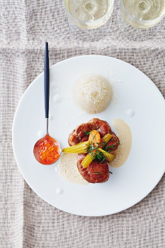 Veal osso buco with Parmesan rice