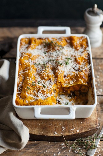 Lasagne with butternut squash