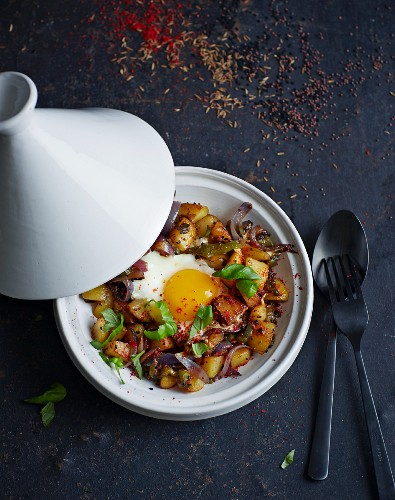 Potato tagine with egg (North Africa)