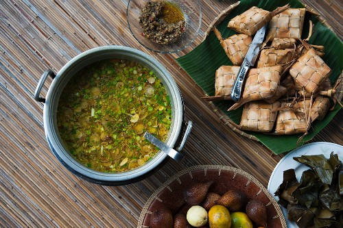 Various oriental dishes and foods