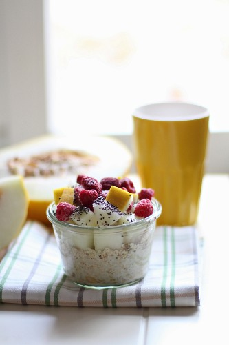 Muesli with fruit and chia seeds