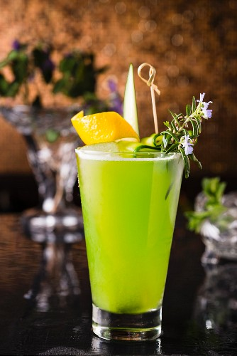 A Virgin Mary cocktail with apple and cucumber