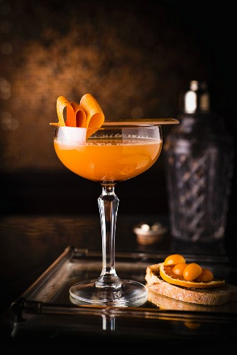 Breakfast of champions: a cocktail made with orange juice and marmalade