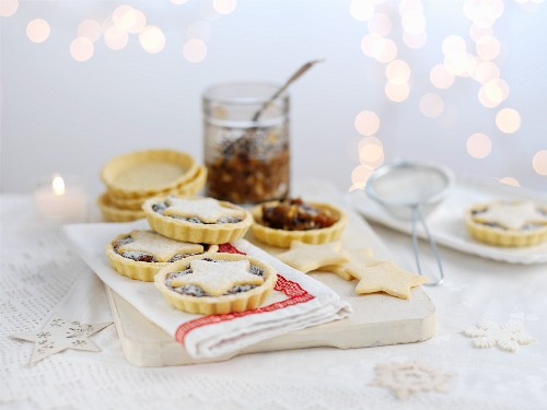 Mince pies being made
