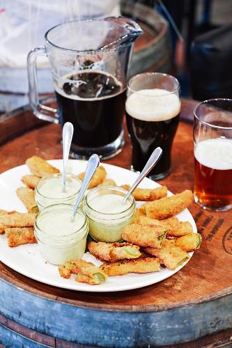 Fried Pickles (fritierte Gewürzgurken)