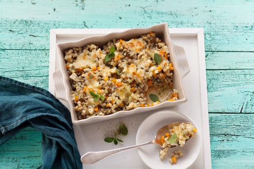 Fried, gratinated buckwheat (post fasting)