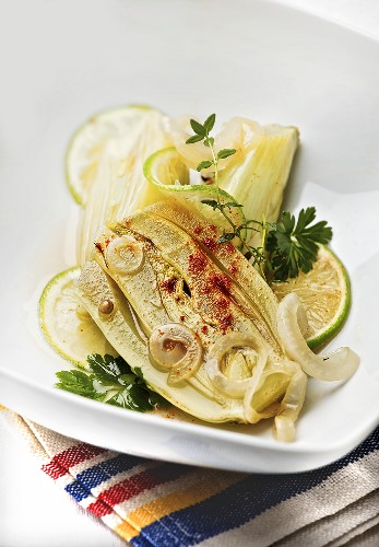 Fried fennel and onions