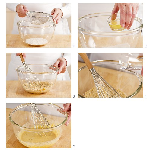 Making tempura batter
